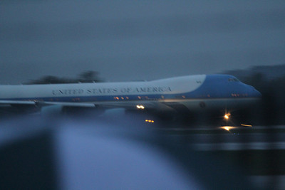 Air Force One on departure from Akron Canton Airport (CAK) - 09/26/2012